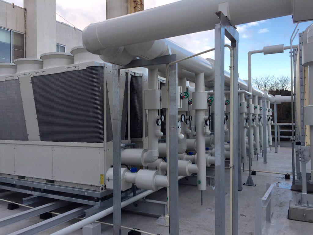 クラタコーポレーション事例の医療施設空調熱源更新工事