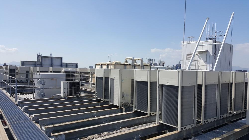 クラタコーポレーションの導入事例広島マツダ本社ビル空調機更新工事3
