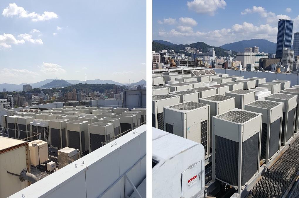 クラタコーポレーションの導入事例広島マツダ本社ビル空調機更新工事5